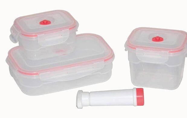 Envases herméticos + bomba de vacío