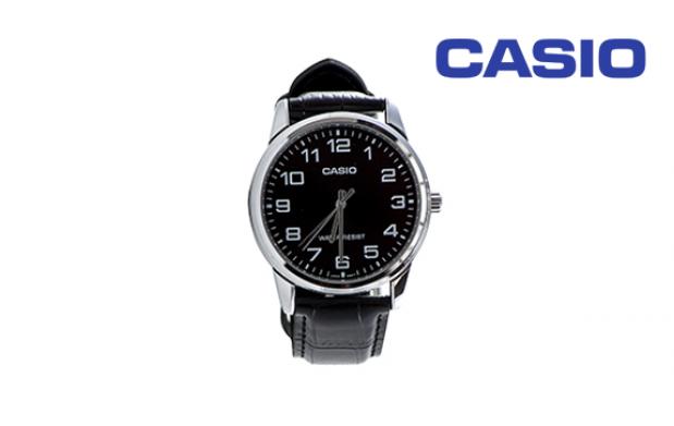 Reloj Casio con correa de piel