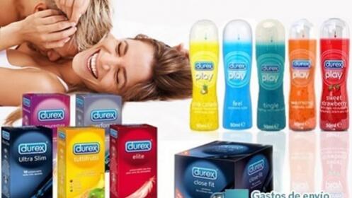 Pack de preservativos y lubricantes Durex