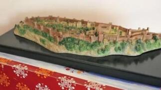 La Alhambra. Maqueta de la Maravilla de Granada.