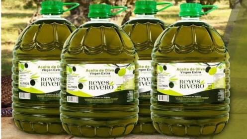 4 garrafas de 5L de aceite de oliva virgen extra de las faldas de Sierra Nevada