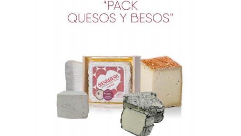 4 quesos cabra: 350gr de Cuña Colono + 250gr de Olavidia + 200gr Cuña Fuero + 160-180gr Valleoscur