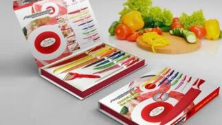 Set de Cuchillos 9 piezas. Fujiblade. Recubrimiento Anti-Adherente Antibacteriano, por 6,95€