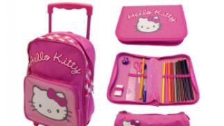 Mochila con Ruedas Hello Kitty. Pack 3 en 1, por 9.90€. Envío Gratis