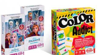 Juego de cartas Frozen II Figurines + Color Addict