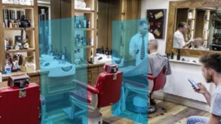 Mampara policarbonato (peluquería y podología)