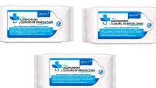 216 toallitas higienizantes con clorehxidina y cloruro de benzalconio