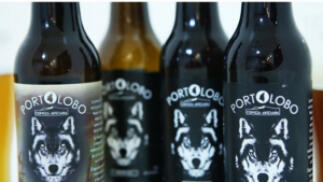 Cervezas artesanales Portolobo: pack 12 tercios