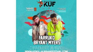 KUF con Farruko y Bryant Myers, 11 julio