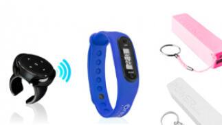 Control remoto para móvil + pulsera de actividad + powerbank