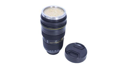 Taza en forma de lente de cámara 24-70