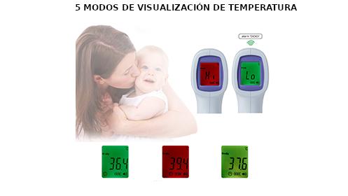 Termómetro infrarrojos sin contacto