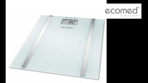 Báscula de baño con medición, grasa, agua y masa muscular