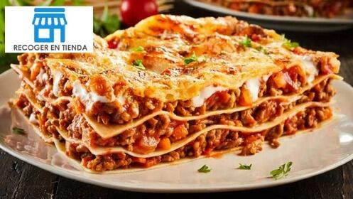 2 pizzas o pastas + 1 postre italiano
